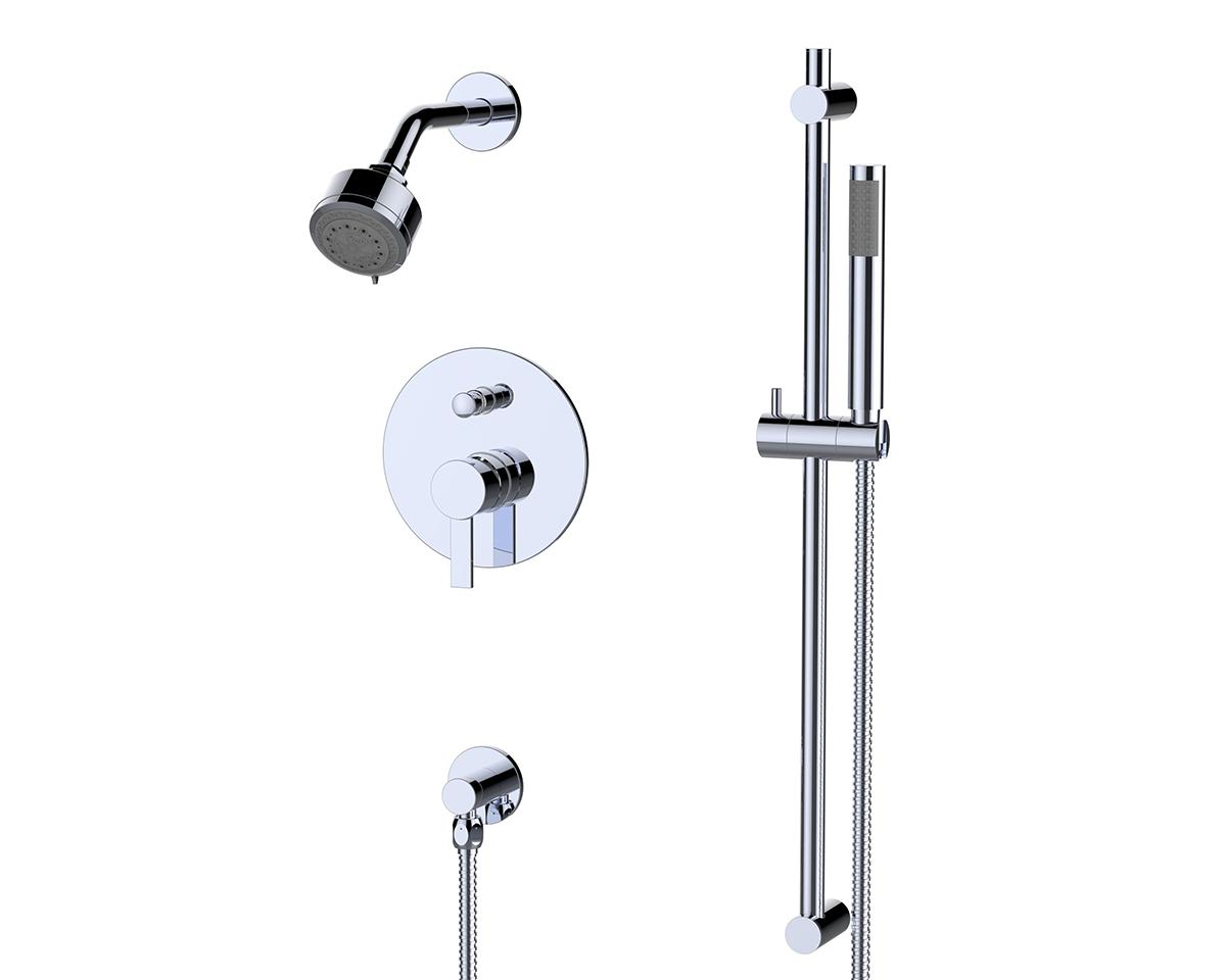 Citi Handheld Shower W Slide Bar Trim Kit I Sustainable