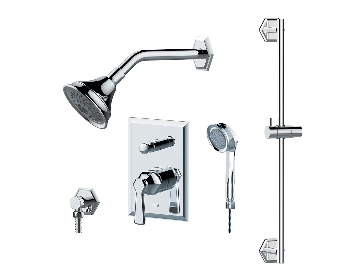 Symmetry Handheld Shower With Slide Bar Trim Kit I